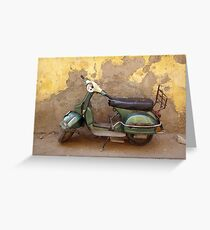 Moped against the wall Greeting Card