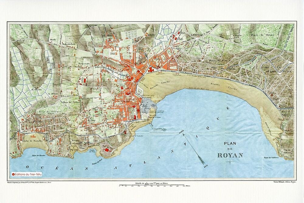 « Plan de Royan en 1909 » par Francois Richet