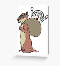 Gran Theft Otter Greeting Card