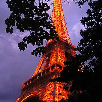 Night in Paris at the Eiffel Tower by Johnhalifax