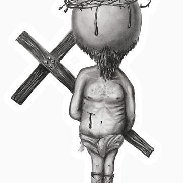 jesus h bic by burntwoodstudio