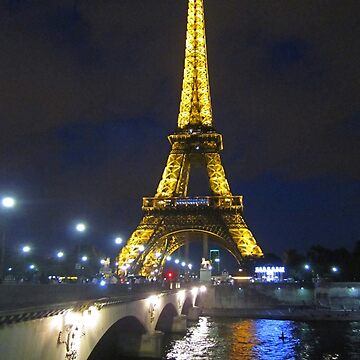 Eiffel Tower and the Seine River at Night by Johnhalifax