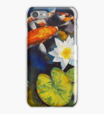 Koi Fish and Water Lily iPhone Case/Skin