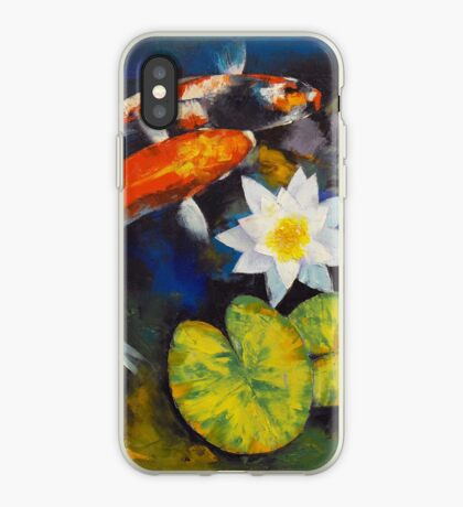 Koi Fish and Water Lily iPhone Case