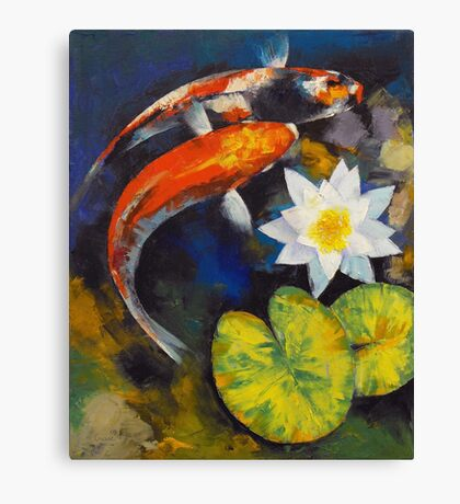 Koi fish canvas prints redbubble for Koi fish paintings prints