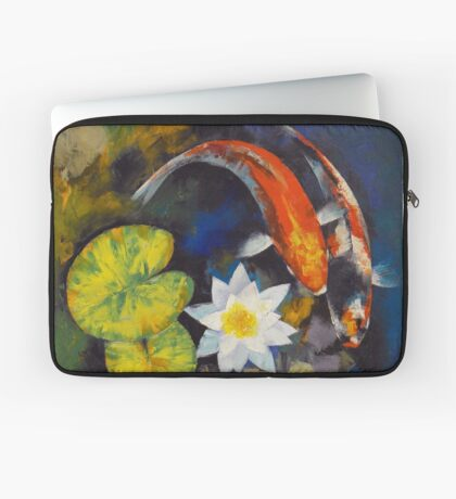 Koi Fish and Water Lily Laptop Sleeve