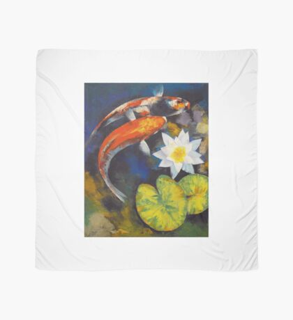 Koi Fish and Water Lily Scarf