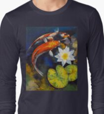 Koi Fish and Water Lily Long Sleeve T-Shirt