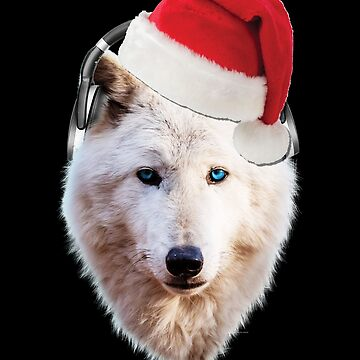 Jamming Santa Wolf HeadPhones  by ratherkool