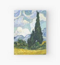 Van Gogh's Wheat Field with Cypresses | Vincent Van Gogh Inspired Fine Art Gifts Hardcover Journal