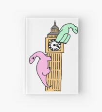 Dinosaurs on Big Ben Hardcover Journal