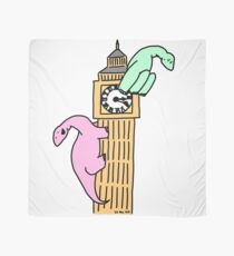 Dinosaurs on Big Ben Scarf