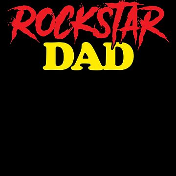 Rock Star Dad Rock and Roll Birthday Party Apparel for Children by CustUmmMerch