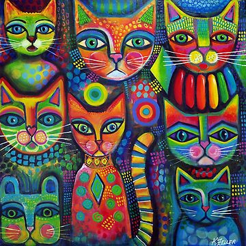 8 Colourful cats  by karincharlotte