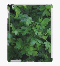 Natural fresh green leaves iPad Case/Skin