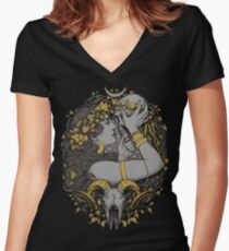 THE WITCH Women's Fitted V-Neck T-Shirt