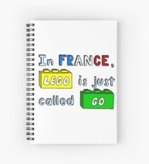 French Lego Spiral Notebook