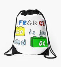 French Lego Drawstring Bag