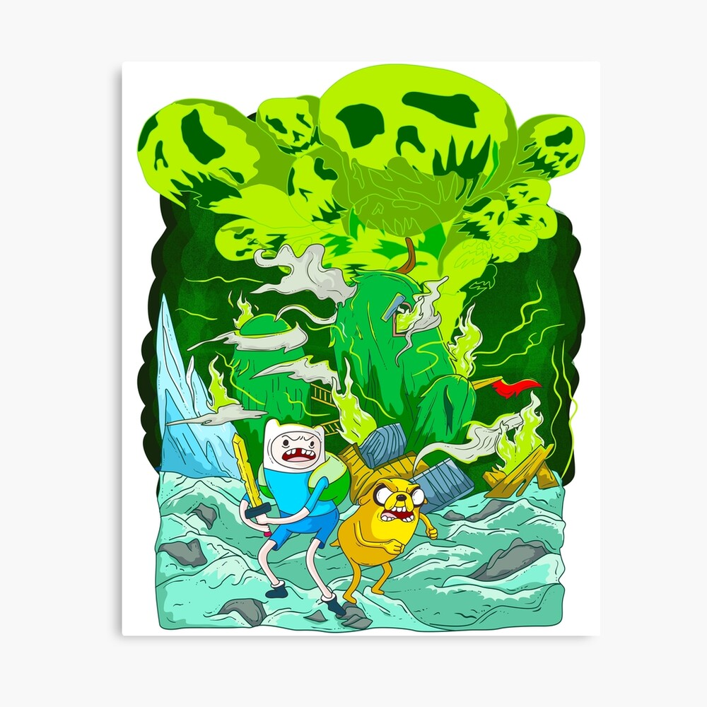Adventure Time Finn and Jake Mounted /& Framed Print