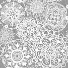 Soft Grey Mandala Pattern by julieerindesign