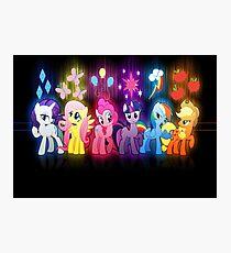 My Little Pony Neon Poster Photographic Print