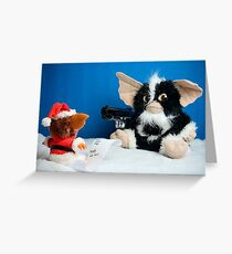 Gizmo's evil cousin suggests Santa checks his list a third time Greeting Card