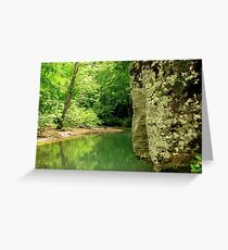 Hiking Dripping Springs, Boston Community Greeting Card