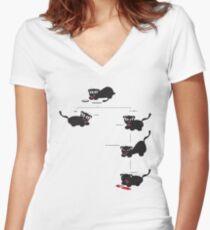 Feed Kitteh? Women's Fitted V-Neck T-Shirt