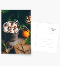 Hot chocolate with marshmallow Postcards