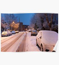 Snowy Chatsworth Way: West Norwood London Poster