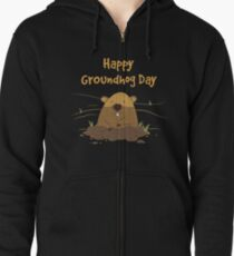 Groundhog Day 2019 Zipped Hoodie