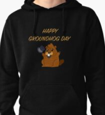 Happy Groundhog Day 2019 Pullover Hoodie