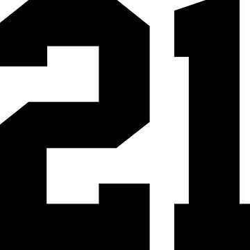 21. Number twenty-one on shirts and stuff. by Swaygo