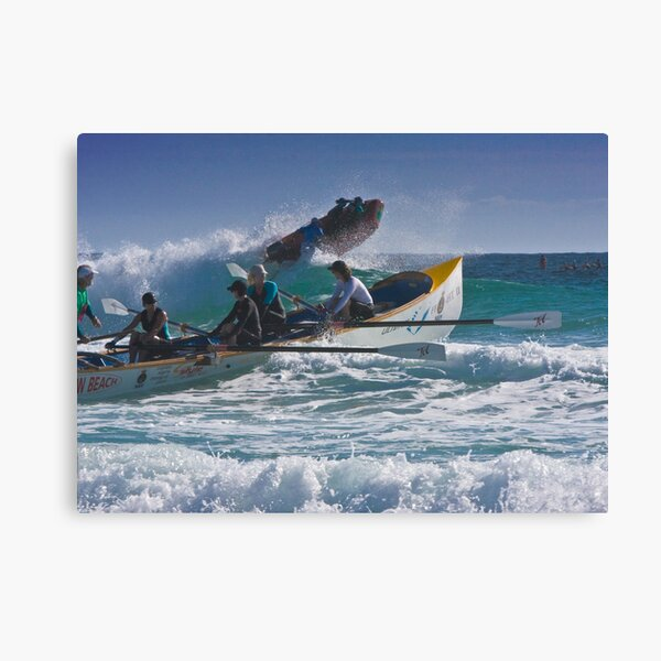 Surfboat at Narooma Beach Canvas Print