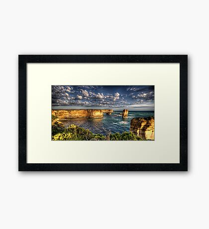 Cloudy Bay - The Twelve Apostles - The HDR Experience Framed Print