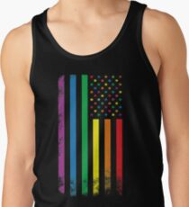 Rainbow American Flag Men's Tank Top
