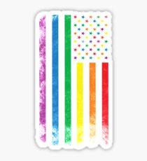 Rainbow American Flag Sticker