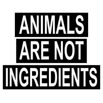 Animals Are Not Ingredients T-Shirt by SamDesigner