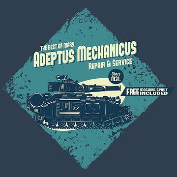 Adeptus Mechanicus - Baneblade - Blue by moombax