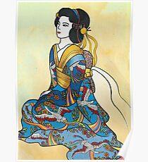 Sitting Geisha Poster
