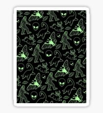 Cryptid Pattern (Green Lines) -   Sticker