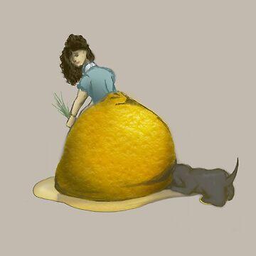 Lemon Lady and Dog by EmilyPaints
