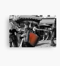 Street musician (Paris, France) Canvas Print