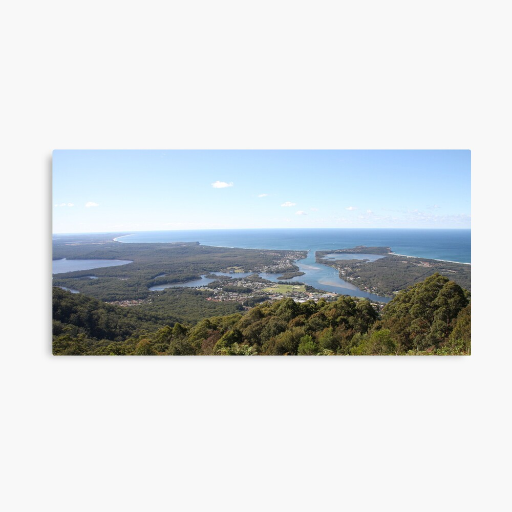 Curvature of the Earth - North Brother Mountain, NSW, Australia Canvas Print