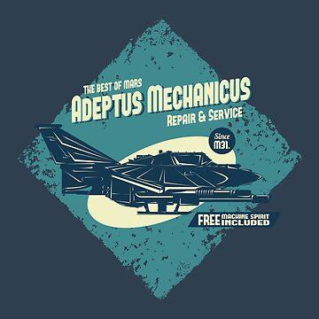 Adeptus Mechanicus - Lightning - Blue by moombax