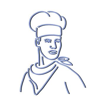 Chef Looking to Side Neon Sign by patrimonio