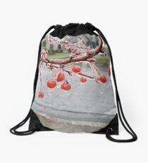 Iced Cherries Drawstring Bag