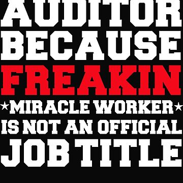 Auditor because Miracle Worker not a job title by losttribe