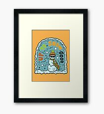 Up to No Good in Turquoise Framed Print