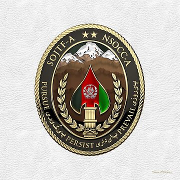 Special Operations Joint Task Force - Afghanistan -  NSOCC-A/SOJTF-A Patch over White Leather by Captain7